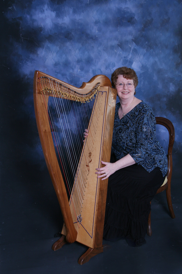 Darlene with Harp